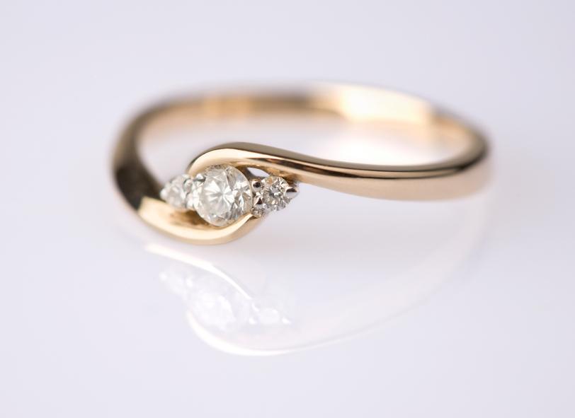 Custom Gold Engagement Ring